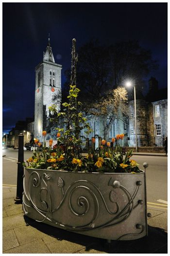 Night Illuminated Architecture Outdoors Building Exterior St Andrews Scotland Historic Buildings Historic Town Tourism Attractions Scenic Beauty Leisure Shadow And Light Built Structure Flowers Planter Street Lighting