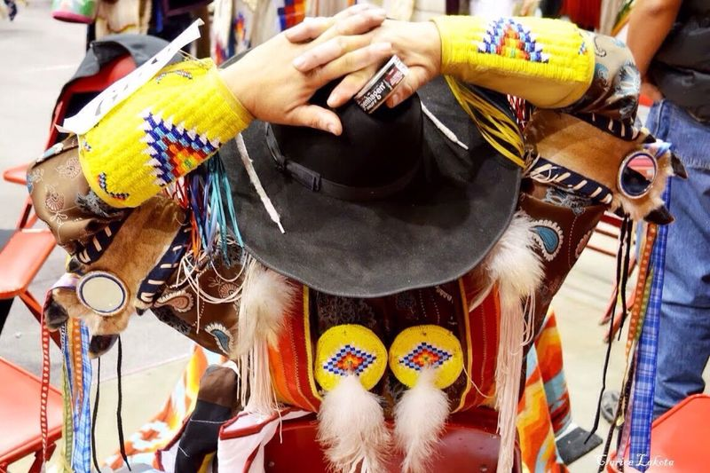 Indian Cowboy Too Cowboys And Indians Native American Indian Black Hills Powwow He Sapa Wacipi Regalia Powwow Celebration Traditional Clothing
