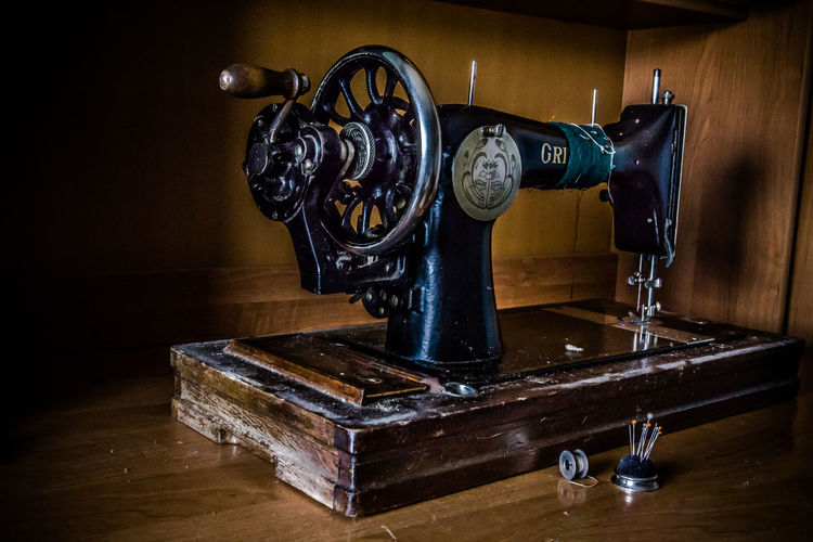 Gritzner Rusian Antique Sewing Machine Antique Close-up Indoors  Machinery No People Old-fashioned Wood - Material Kardzhali