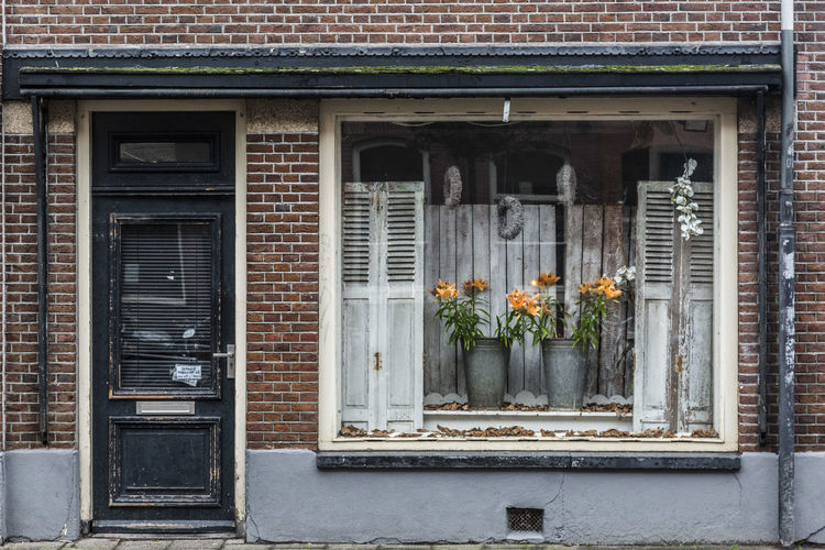 Amsterdam Etalage Flower House Marnixstraat Old Urbex Window