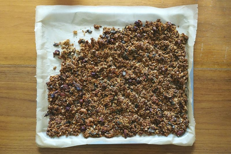 Granola Selfmade DIY Food Good Morning Breakfast Good Food Healthy Healthy Eating Healthy Food Healthy Lifestyle OvenBaked Nuts Wheat Food Stories