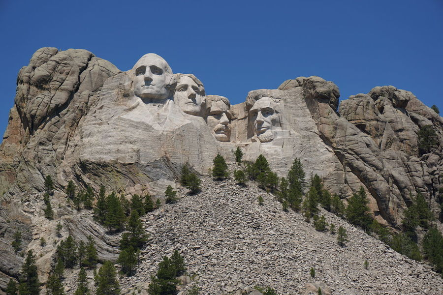 Mount Rushmore Mount Rushmore National Memorial Clear Sky Mountain Nature Outdoors Presidents Sculpture Statue Travel Destinations