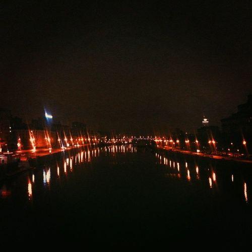 Москва устинскиймост Яуза Ночь зима2014 зима