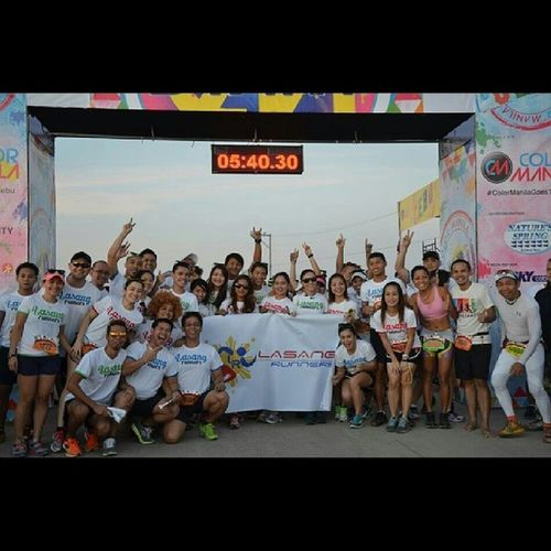 Had so much fun running with these people. My running family, Lasang Runners. Colorrunmanila Colorrunmanilagoestocebu ColorRun Colorruncebu funrun runners running runbuddies