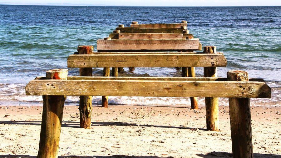 Lookingforward Remains Of Boardwalk Boardwalk Sea View Seaside Sea_collection Taking Photos Relaxing Dayatthebeach Followme