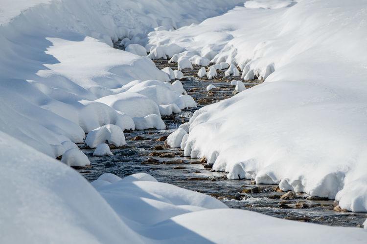 Winter wonderland in sportgastein ski resort, gastein, salzburg, austria.