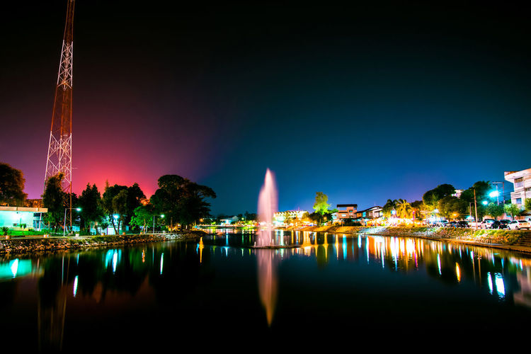 Landscape night lights city and beautiful fountain river in Loei Thailand Architecture Background Beautiful Blue Bridge Building Business Capital Chicago City Cityscape Color Colorful Columbus Communication Dark Downtown Evening Glasgow  Landmark Landscape Light London Modern Moscow New Night Nightlife Oregon Panorama Portland Prague Queenstown Reflection River Scene Sky Skyline Smart Street Structure Sunset Tourism Tower Travel Twilight View Water Zealand