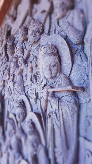 Chinese New Year 2017 Praying Buddhist Temple Buddha Statue Stone Carving