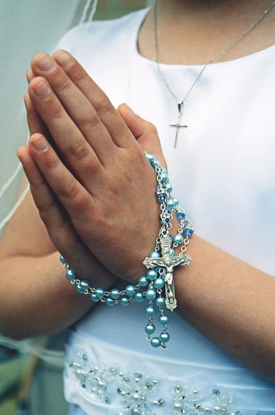 Folded Hands Prayer Traditional Tradition Rite Ritual Rosary Communion First Communion Catholicism Catholic Religious  Religion Human Body Part Hand Human Hand Jewelry Real People One Person Women Necklace Lifestyles Close-up Bracelet Human Finger The Portraitist - 2018 EyeEm Awards