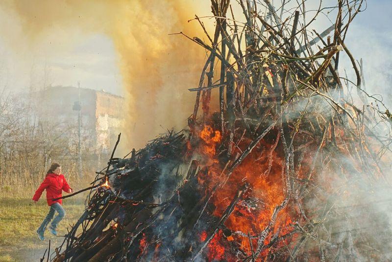 Easter Fire II Open Edit Bonfire My Fuckin Berlin Fire The Moment - 2015 EyeEm Awards