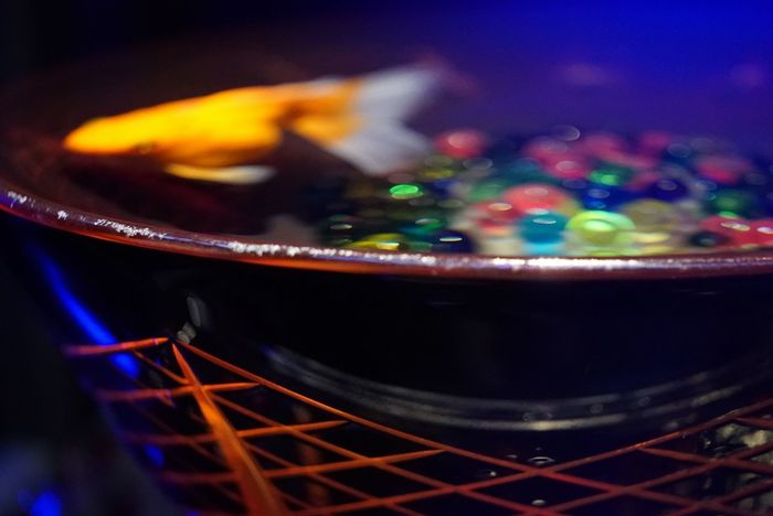 江戸切子と金魚 Cutglass & Goldfish Colors Multi Colored Light And Shadow Lines, Shapes And Curves Lines And Shapes Close-up Japanese Culture Indoors  Capture The Moment From My Point Of View Goldfish In Water Bokeh Lights Geometry EyeEm Best Shots EyeEm Best Edits EyeEmNewHere