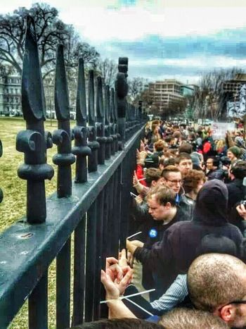 STUDENTS OUTSIDE OF THE WHITE HOUSE..PROTESTING THE KEYSTONE PIPELINE.. Stand For Something Or Youll Fall For Anything!! Truth Is Not A Thought, Its An Expierence Breaking Away From The Familiar Freedom Fighters