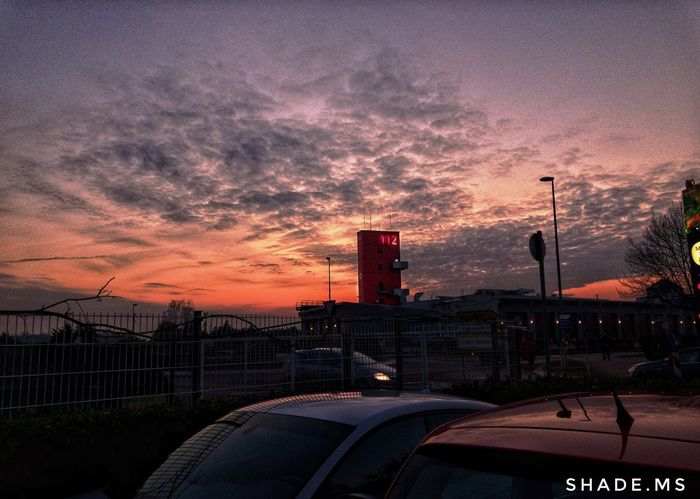 Fire Fire Sunset Sky Cloud - Sky Transportation Mode Of Transport Land Vehicle Car Architecture Built Structure No People Outdoors Building Exterior Nature City Airplane EyeEmNewHere