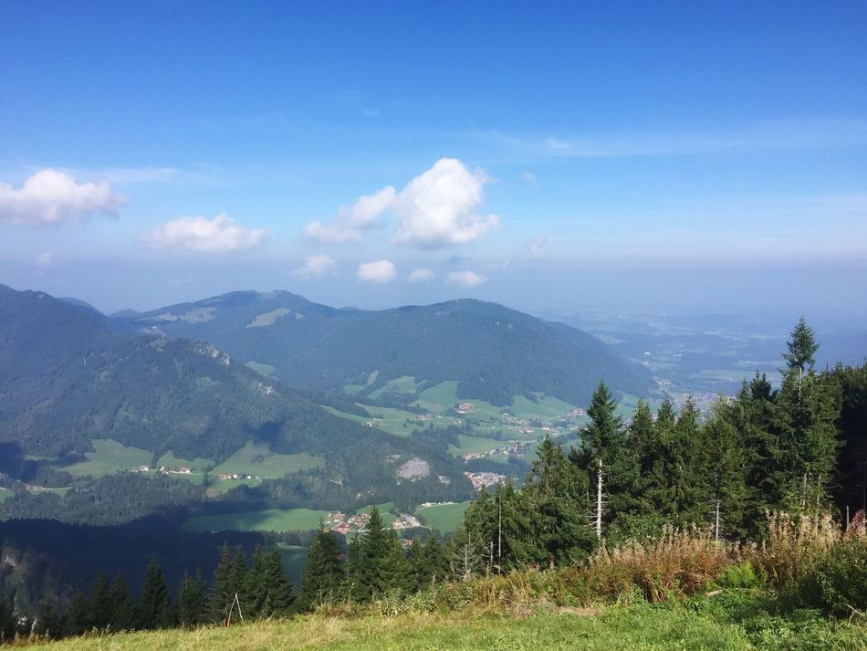 View from mountain Untersberg in the Bavarian alps Mountain Nature Sky Beauty In Nature Tranquility Tranquil Scene Landscape No People Tree Scenics Mountain Range Grass Day Outdoors Range Bavaria Bavarian Landscape Germany🇩🇪 Blue Sky Untersberg Grass Beauty In Nature