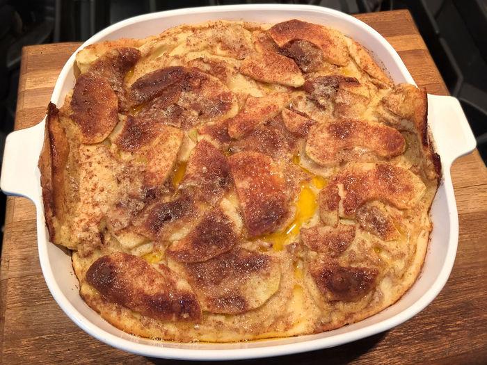 German apple pancake in baking dish Apple Baking Baking Dish Close-up Desert Dish Food Freshness Meal No People Pastry Serving Size Still Life