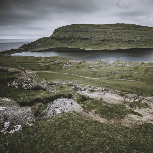 Sorvagsvatn Beauty In Nature Cloud - Sky Faroe Faroe Islands Faroeislands Lake Landscape Nature No People Non-urban Scene Outdoors Scenics - Nature Sea Sky Tranquil Scene Tranquility Water