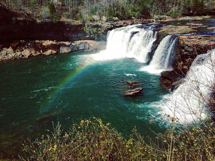 Waterfall Scenics Beauty In Nature Nature Rainbow