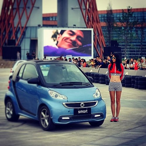 Girl Driver Smart Compact beautiful