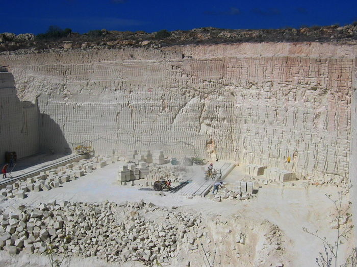 Arid Climate Blue Sky Day Favignana Geology Landscape Men At Work  Outdoors Physical Geography Quarry Sicily, Italy Sunny Tuff