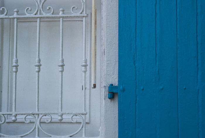 Architecture Blue Blueandwhite Built Structure Day Door No People Outdoors White Adapted To The City