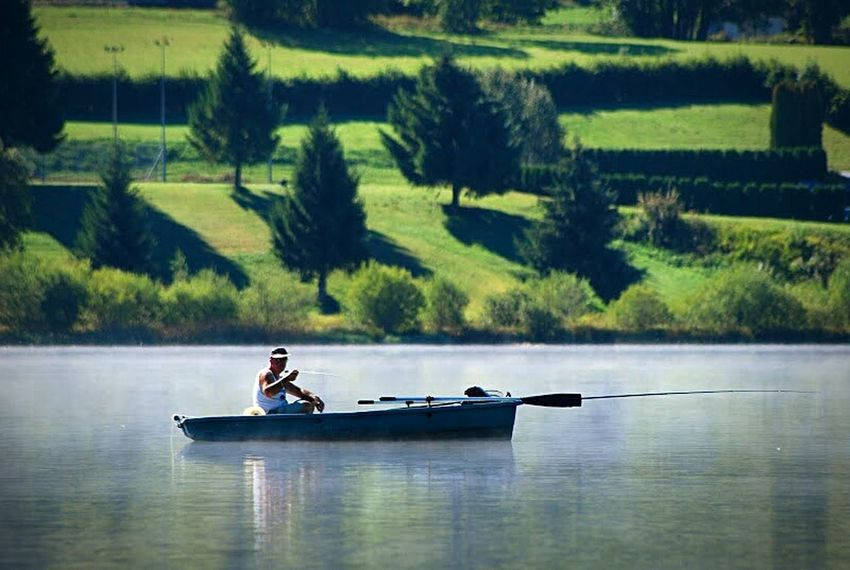Fishing Fischer Lake Quiet Moments France Franchecomte Peoplephotography Water