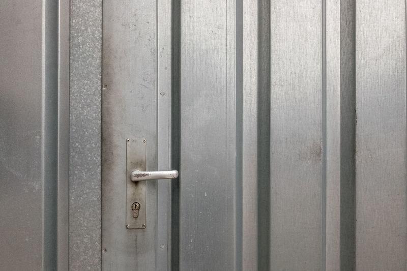 Full Frame Shot Of Closed Metal Door