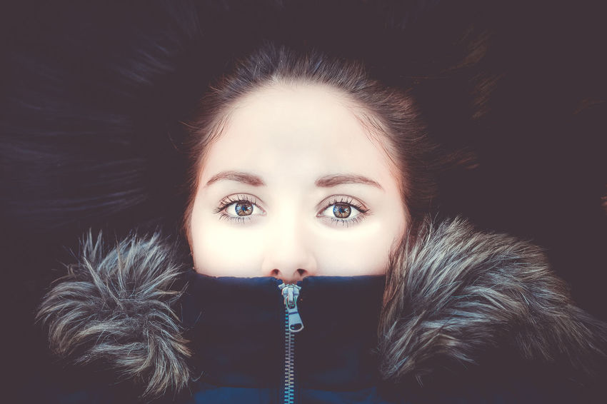 beautiful look Beautiful Woman Beauty Close-up Day Fashion Fashion Model Front View Fur Fur Coat Headshot Human Face Indoors  Lifestyles Looking At Camera One Person People Portrait Real People Studio Shot Warm Clothing Winter Young Adult Young Women
