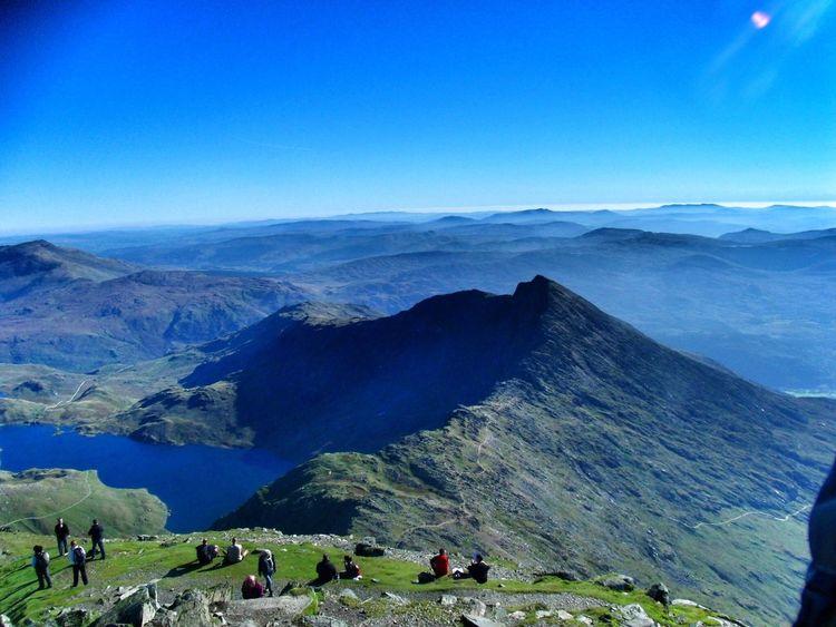 Top of Snowdon Snowdon Snodonia