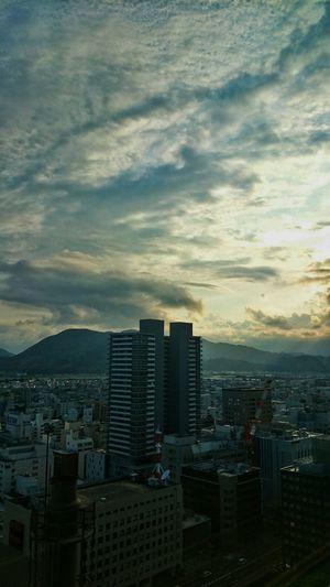 静岡県庁別館展望台からの景色。 Landscape Cityscapes Sunset Clouds And Sky Sky And Clouds There Be Dragons Light And Shadow Travel Photography at Shizuoka-shi, Japan.