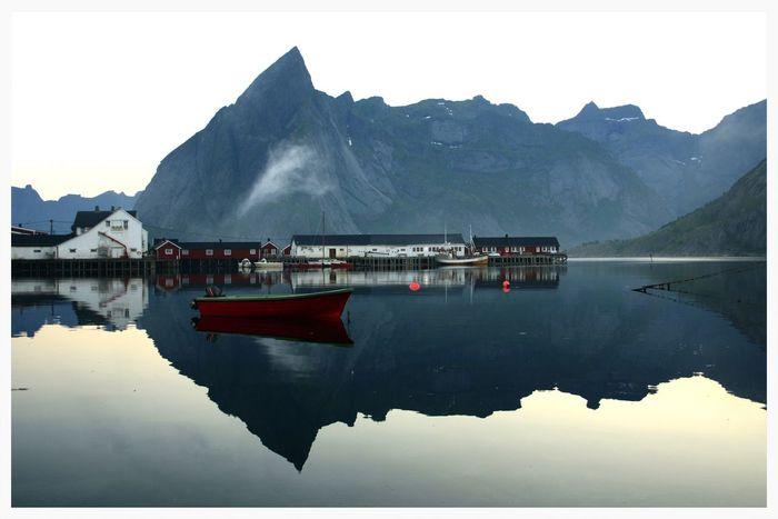 Mysterious Norway Lofoten Islands Hamnøy AtNight 2014