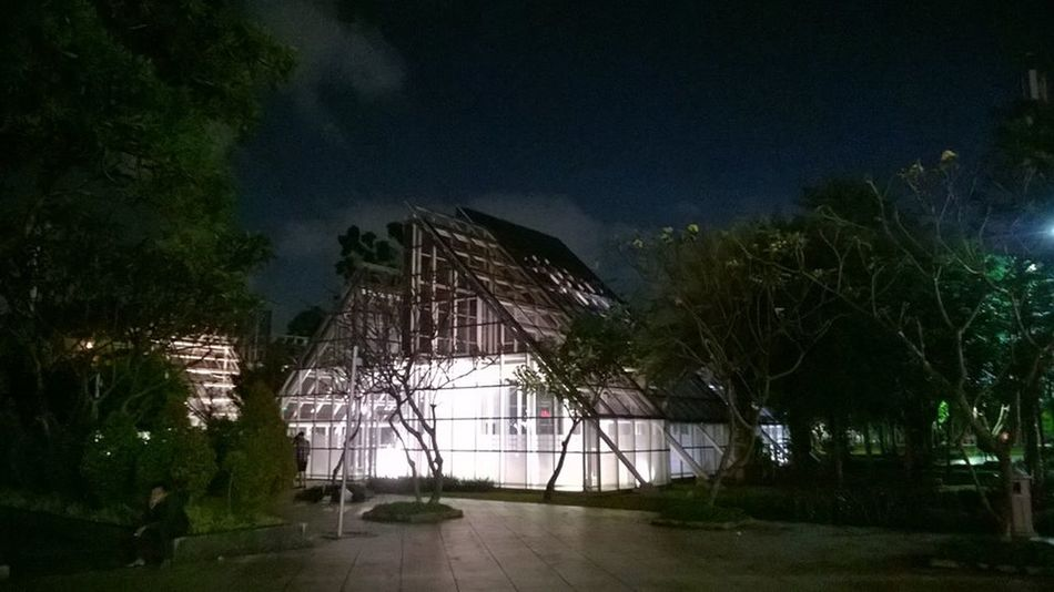 Architecture Building Exterior Built Structure Glass Glass House Night No People Parks Reception Hall