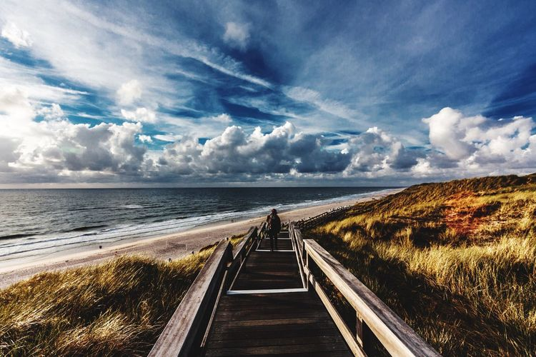 Open Sky Beach Walk Stormy Weather Sky And Sea Sky And Clouds Alone Time Alone Sylt Strand Sylt, Germany Sylt Sea Cloud - Sky Horizon Over Water Sky Nature Water Scenics Beauty In Nature Tranquility Outdoors Tranquil Scene