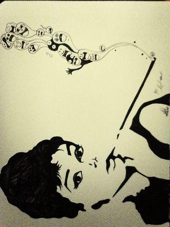 """Audrey Goodnight"" Quick Skatch by L.P.H.artwork LPHartwork Charcoal #skull #art #artist #sketch #tattoo #tattooed #ink #inked #pencil #doodle #skin #skeleton #tattooedup #color #colour #cooltattoo #picture #picture #bones #skull Art #wallart #skulltattoo #skullhead #skullaholic  Audrey Hepburn Art"