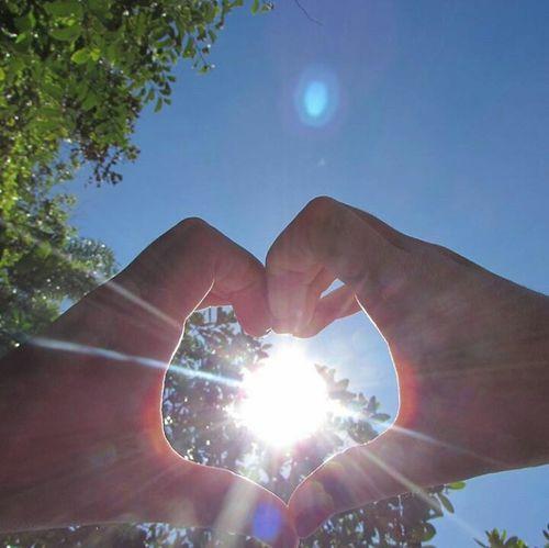 Sol,natureza,vida,coraç ão,p Az