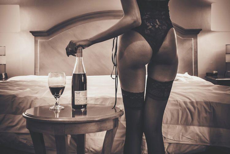 Wine Goodgirlgonebad Buns Butt Ass BootySHOTS Lingerie Sexy Sexygirl