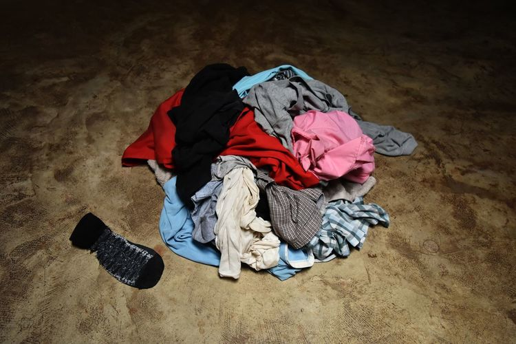 Pile Of Clothes On Floor