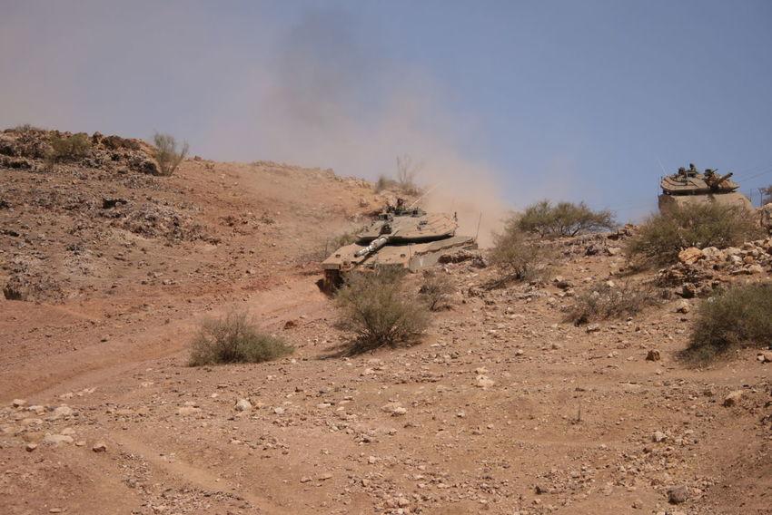 Arid Climate Army Army Tank Desert Idf Landscape Sand Dune Sky Tranquility