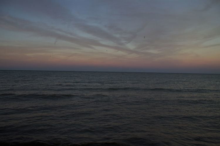 Sunset Horizon Over Water Nature Cloud - Sky Scenics Tranquil Scene Sky Beach Water Backgrounds Tranquility Beauty In Nature No People Landscape Outdoors Travel Destinations Beauty Lake Michigan