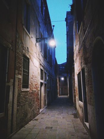 Venice Venice, Italy Venice By Night Night Lights Nightphotography Nightshot Streetphotography Street View Darkness Haunting Places Haunted Places Eye4photography  EyeEm Best Shots