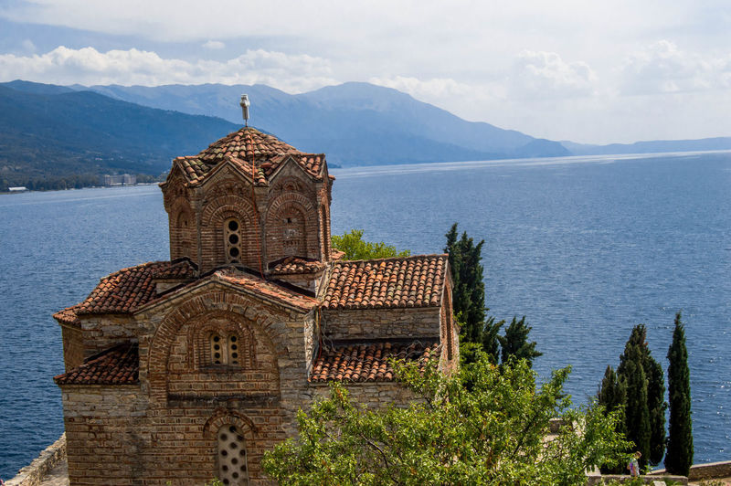 Church of st john at kaneo against lake ohrid