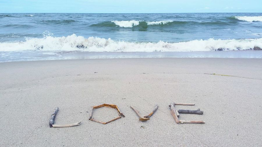 Love Love ♥ Love Mood Love Font Love Sticks Love On The Beach Love Made Of Sticks Waves Sea Sea And Sky Seaside Beach Sand Romantic Romantic Landscape Romantic Scenery Romantic Mood Romantic Moment Baltic Sea Enjoy The New Normal My Year My View Finding New Frontiers