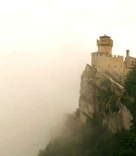 La Rocca di San Marino Colour Photography Foto Photography Colour Image Beauty Fotografia Medieval Scenics History Vacations Colours Of Life Architecture Fog Building Exterior Architecture Built Structure Cityscape City Outdoors Day Sky No People