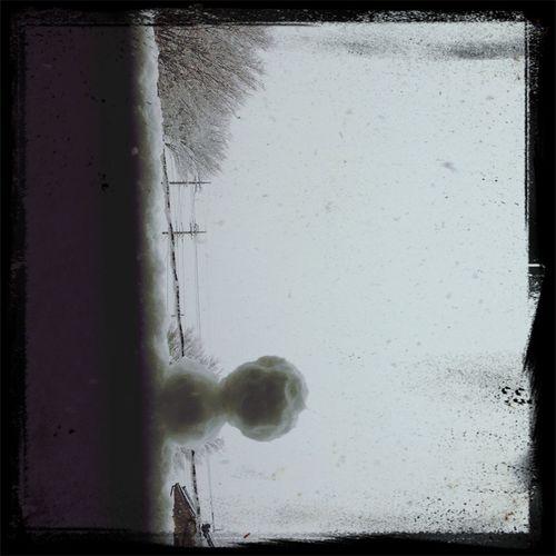 雪だるま。