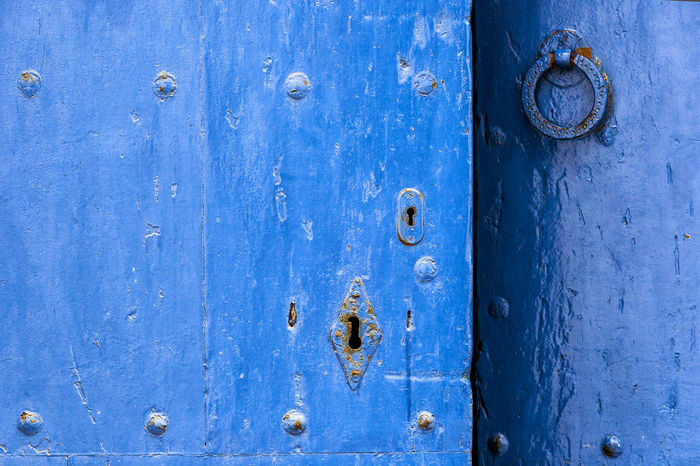 Door 02 Backgrounds Blue Close-up Closed Day Detail Door Full Frame Lock Mediterranean Culture Mediterranean Lifestyle Metal No People Old Outdoors Paint Rusty Textured  Traditional Culture Weathered Wood Wood - Material Wooden