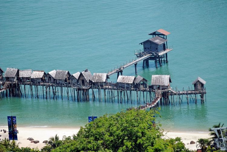 Aerial View Beach Architecture Beach Life Building Exterior Built Structure Day Eye4photography  Nature Nautical Vessel No People Outdoors Pier Sea Singapore View From Cable Car Water