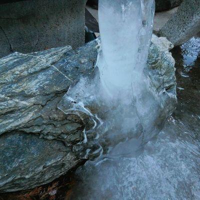 It's Cold Outside Slush froze... Freezing Ice