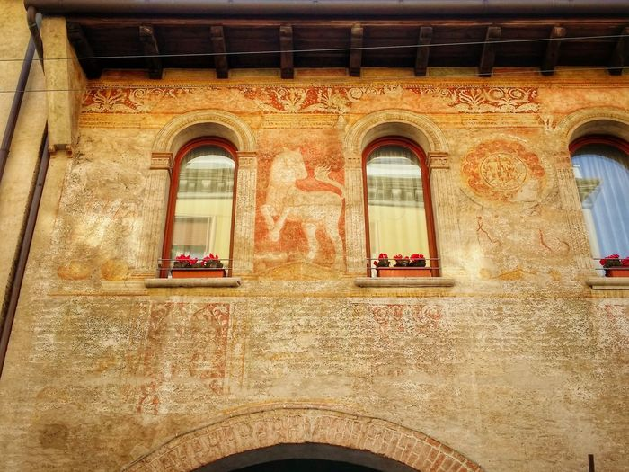 Showcase March Treviso Italy Travel Photography Travel Traveling Mobile Photography Art Fineart Architecture Medieval Buildings Fresco Decorations Red Brick Wall Rextures Reflections And Shadows Mobile Editing
