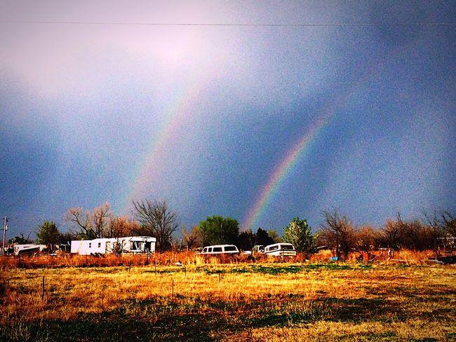Rainbow Sky Rainbow Colors Double Rainbow Double Rainbows Rainbow In A Cloud... Oklahoma Nature Oklahoma Weather OklahomaSkies