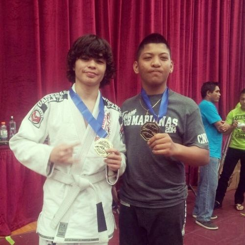 Attao brothers both taking home the gold!! I take gold for the adult white belt division 130 lbs under. My brother takes home the gold for the teenage division 165 to 175 lbs. Hard work, dedication, and obsession gets you where u deserve. Marianasopen Graciebarra Graciebarramarianas
