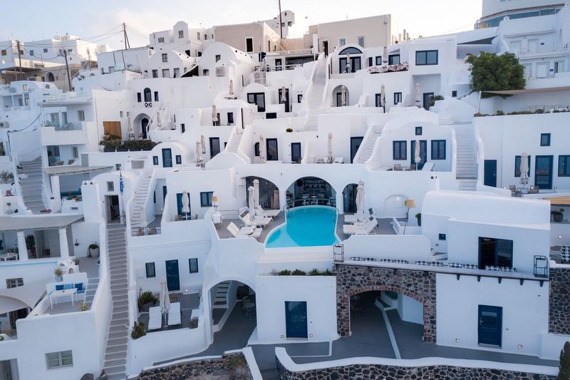 Building Exterior Architecture Built Structure Building City Residential District Day No People Outdoors Nature Water House White Color Travel Destinations Town High Angle View Travel